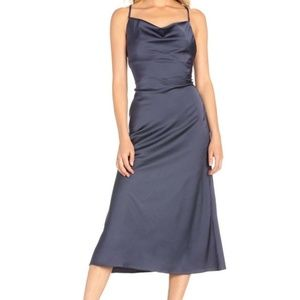 Dance & Marvel Cowl Neck Midi Dress (S)